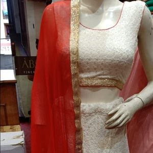 Red white lenghna (Indian/punjabi outfit)